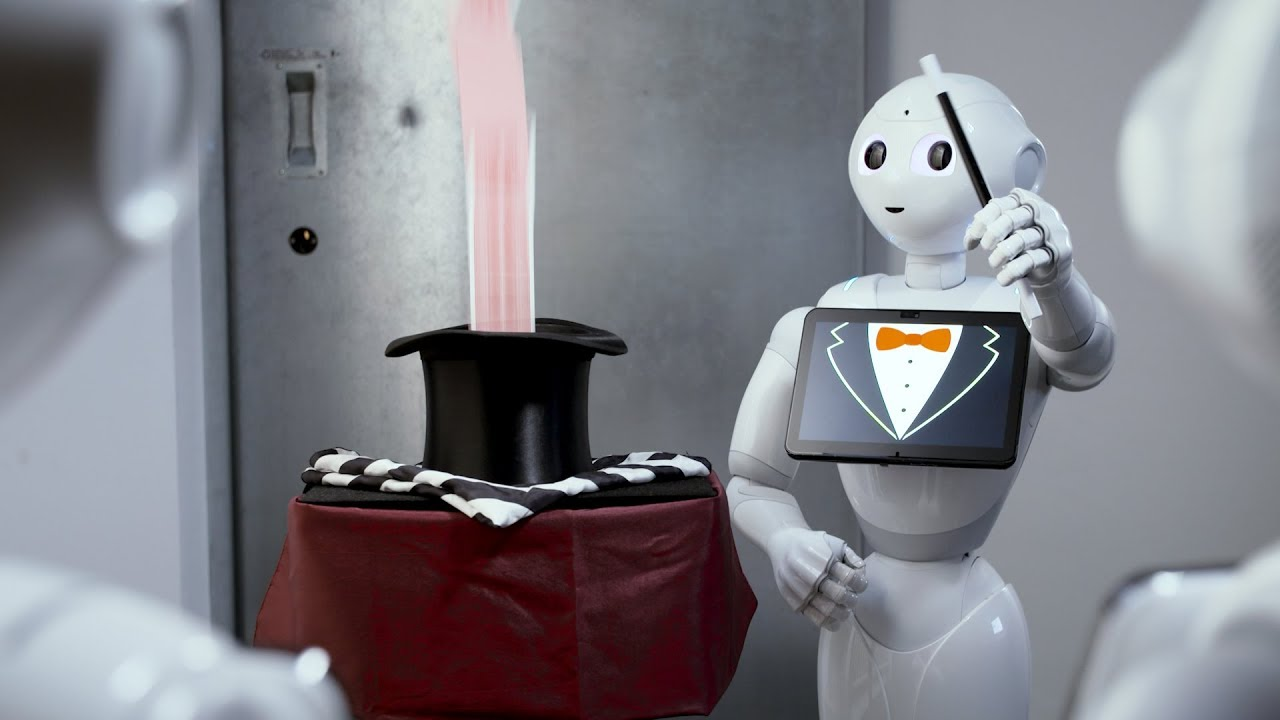 Abstract image showing a robot doing magic